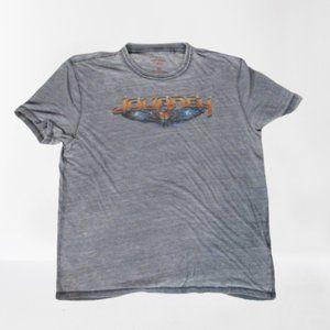 Lucky Brand Journey T-shirt Gray XL Women Distress